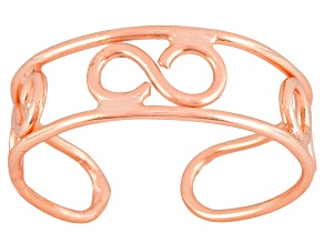 Polished 18k Rose Gold Over Sterling Silver infinity Design Toe Ring