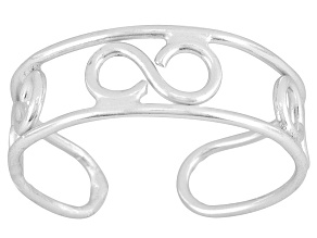 Infinity Design Polished Sterling Silver Toe Ring