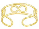 Polished 18k Yellow Gold Over Sterling Silver infinity Design Toe Ring