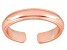 3mm Wedding Band Design Polished 18k Rose Gold Over Sterling Silver Toe Ring