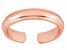 3mm Wedding Band Design Polished 18k Rose Gold Over Sterling Silver Toe Ring