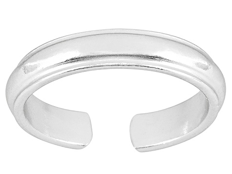 3mm Wedding Band Design Polished Sterling Silver Toe Ring