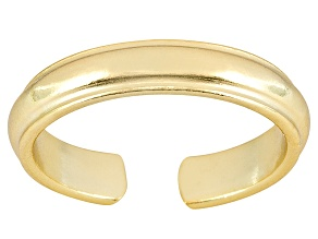 3mm Wedding Band Design Polished 18k Yellow Gold Over Sterling Silver Toe Ring
