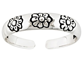 Floral Design Sterling Silver Toe Ring
