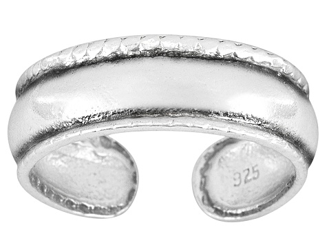 4mm Antique Design Sterling Silver Toe Ring