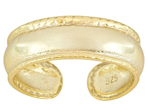 4mm Antique Design 18k Yellow Gold Over Sterling Silver Toe Ring