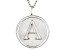 Initial A Sterling Silver Pendant With 18 inch Chain