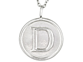 Initial D Sterling Silver Pendant With 18 inch Chain
