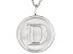"Initial ""D"" Sterling Silver Pendant With 18 inch Chain"