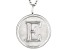 "Initial ""E"" Sterling Silver Pendant With 18 inch Chain"