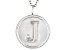 "Initial ""J"" Sterling Silver Pendant With 18 inch Chain"