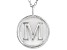 "Initial ""M"" Sterling Silver Pendant With 18 inch Chain"