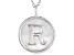"Initial ""R"" Sterling Silver Pendant With 18 inch Chain"