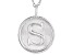 "Initial ""S"" Sterling Silver Pendant With 18 inch Chain"