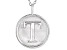 "Initial ""T"" Sterling Silver Pendant With 18 inch Chain"