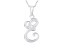 Script initial E Polished Sterling Silver Pendant With 18 inch Chain