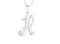 Script initial H Polished Sterling Silver Pendant With 18 inch Chain