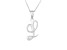 Script initial L Polished Sterling Silver Pendant With 18 inch Chain