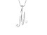 Script initial M Polished Sterling Silver Pendant With 18 inch Chain