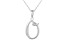 Script initial O Polished Sterling Silver Pendant With 18 inch Chain