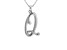 Script initial Q Polished Sterling Silver Pendant With 18 inch Chain