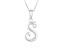 Script initial S Polished Sterling Silver Pendant With 18 inch Chain