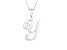 Script initial Y Polished Sterling Silver Pendant With 18 inch Chain