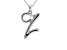 Script initial Z Polished Sterling Silver Pendant With 18 inch Chain