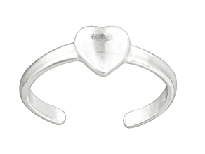 Heart Center Polished Sterling Silver Toe Ring