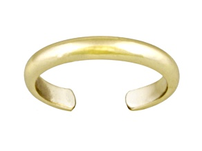 3mm Polished 18k Yellow Gold Over Sterling Silver Toe Ring
