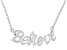 """""""Believe"""" Frontal Polished Sterling Silver 18 inch Necklace"""