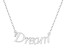 """""""Dream"""" Frontal Polished Sterling Silver 18 inch Necklace"""