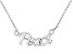 """""""Peace"""" Frontal Polished Sterling Silver 18 inch Necklace"""