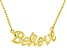 """""""Believe"""" Frontal Polished 18k Yellow Gold Over Sterling Silver 18 inch Necklace"""