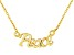 """""""Peace"""" Frontal Polished 18k Yellow Gold Over Sterling Silver 18 inch Necklace"""