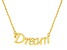 """""""Dream"""" Frontal Polished 18k Yellow Gold Over Sterling Silver 18 inch Necklace"""