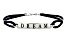 """Dream"" Black Cord Sterling Silver 7 1/2 inch Bracelet"