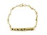 Inspirational Footprint 18k Yellow Gold Over Sterling Silver 7 1/2 inch Bracelet