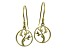 Tree Of Life Polished 18k Yellow Gold Over Sterling Silver Dangle Earrings