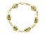 Inscripted inspirational 18k Yellow Gold Over Sterling Silver 7 inch Bracelet