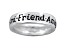 """""""Ami"""", """"Friend"""", And """"Amigo"""" inscripted inspirational Sterling Silver Ring"""