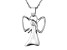Hollow Wing Angel Polished Sterling Silver Pendant With 18 inch Chain