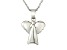 Polished Sterling Silver Angel Pendant With 18 inch Chain