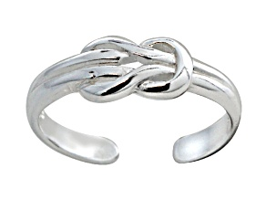 1.5mm Buckle Design Polished Sterling Silver Toe Ring