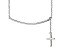 Hanging Cross Frontal Bar Sterling Silver Adjustable 16 inch Necklace