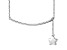 Hanging Star Frontal Bar Sterling Silver Adjustable 16 inch Necklace