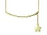Hanging Star Frontal Bar 18k Yellow Gold Over Sterling Silver Adjustable 16 inch Necklace