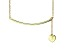 Hanging Heart Frontal Bar 18k Yellow Gold Over Sterling Silver Adjustable 16 inch Necklace