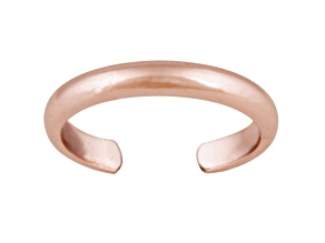 3mm Polished 18k Rose Gold Over Sterling Silver Toe Ring