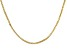 18k Yellow Gold Over Sterling Silver Box Link Chain 20 inch